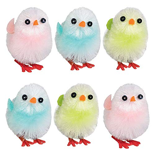 Easter Chicks, 6 Ct. | Assorted Colors | Party Favor