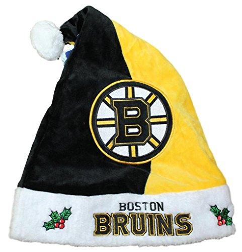 Boston Bruins 2017 NHL Basic Logo Plush Christmas Santa (Boston Bruins Santa Hat)