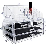 Ikee Design Acrylic Jewelry & Cosmetic/Makeup Storage Display Boxes Set.