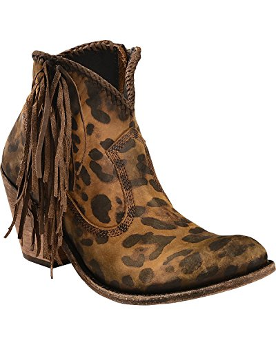 Lb712320chitamiel Boot Faggio Womens LIBERTY Vegas BLACK Round Cheetah Toe O6I40AIw