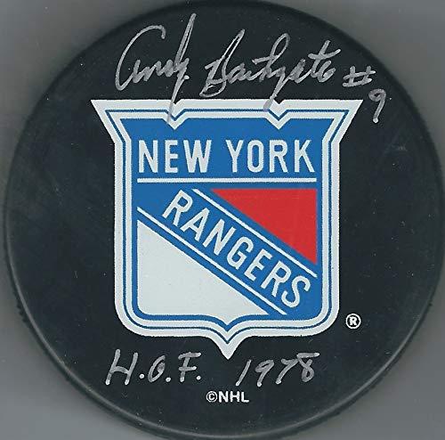 Autographed Andy Bathgate New York Rangers Hockey ()