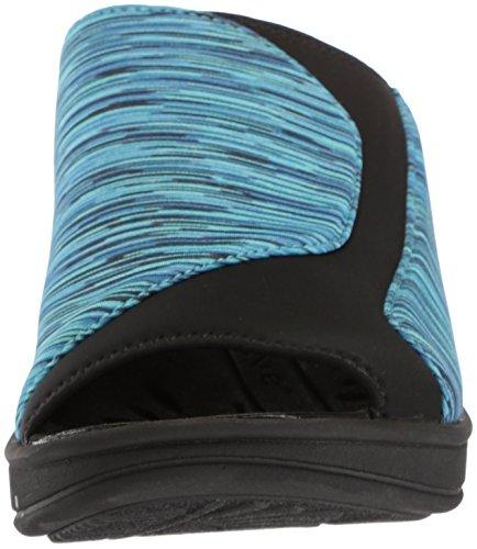 Sandalia De Cuña Easy Street Mujeres Slight Blue Stripe / Neoprene