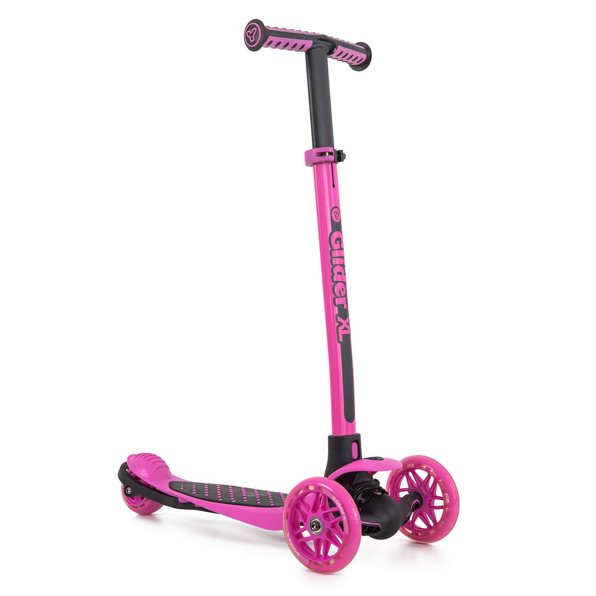 Yvolution Y Glider XL | 3 Wheeled Scooter for Boys and Girls Age 3-8 Years | Extra-Wide Deck