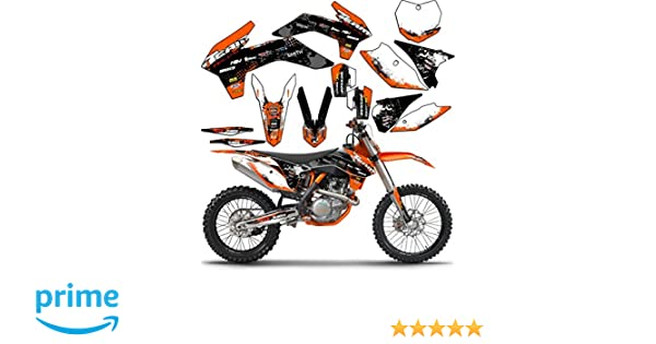 SCATTER Team Racing Graphics kit compatible with KTM 2002-2008 SX 50