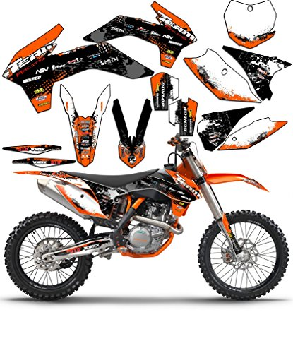 Team Racing Graphics kit for 2004 KTM EXC, SCATTER (Graphics Racing)