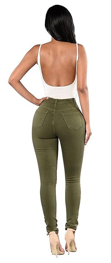Shelers Damen Baumwoll Abnehmen Butt Lift Distressed Jeans Skinny Denim Hose   Amazon.de  Bekleidung 16188d7cc1