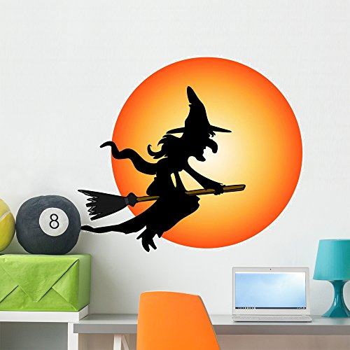 Wallmonkeys Halloween Costume Witch Wall Decal Peel and Stick Graphic (36 in H x 36 in W) -