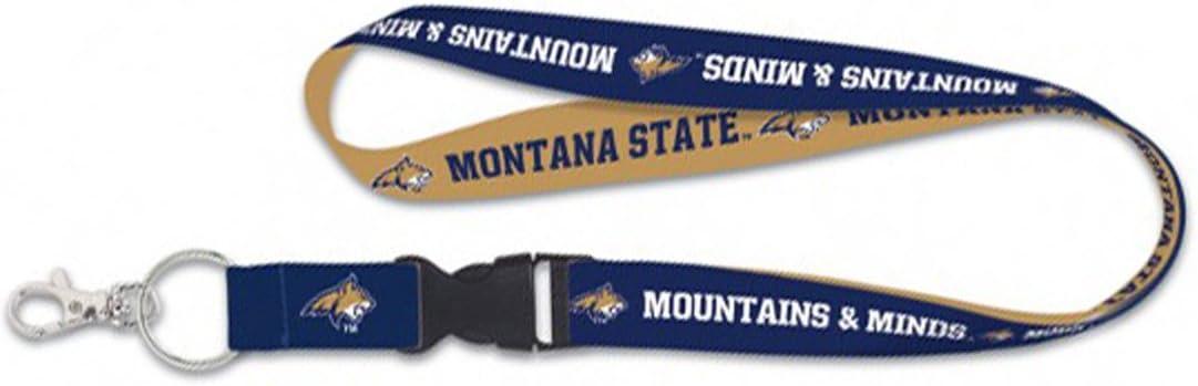 Mountains /& Minds Edition WinCraft Montana State Bobcats Premium Lanyard Key Chain