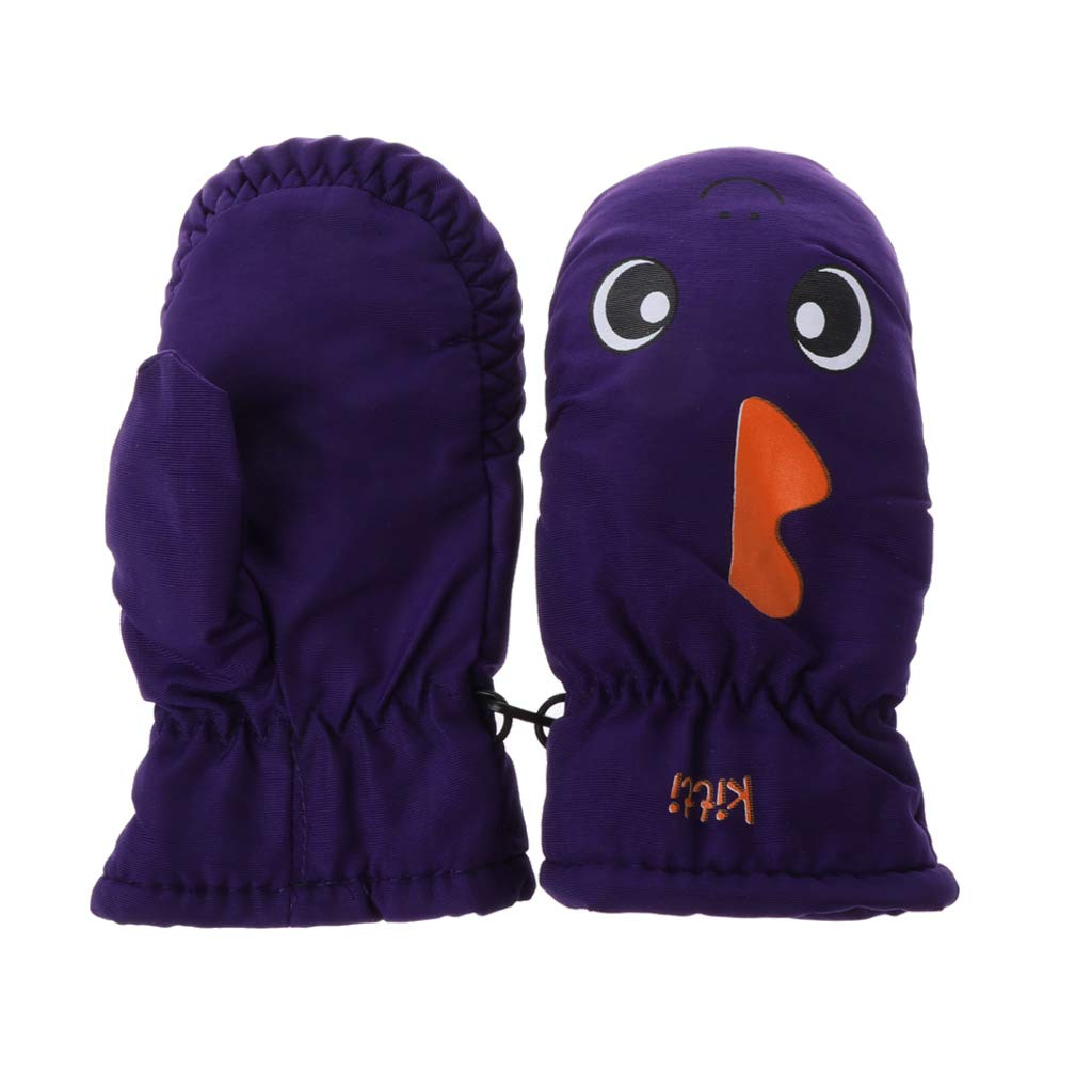 Hot Pink 2-5Years Baby Mitten For Winter Kids Boys Girls Outdoor Warm Gloves Waterproof Windproof zrshygs Skiing Gloves for Kids