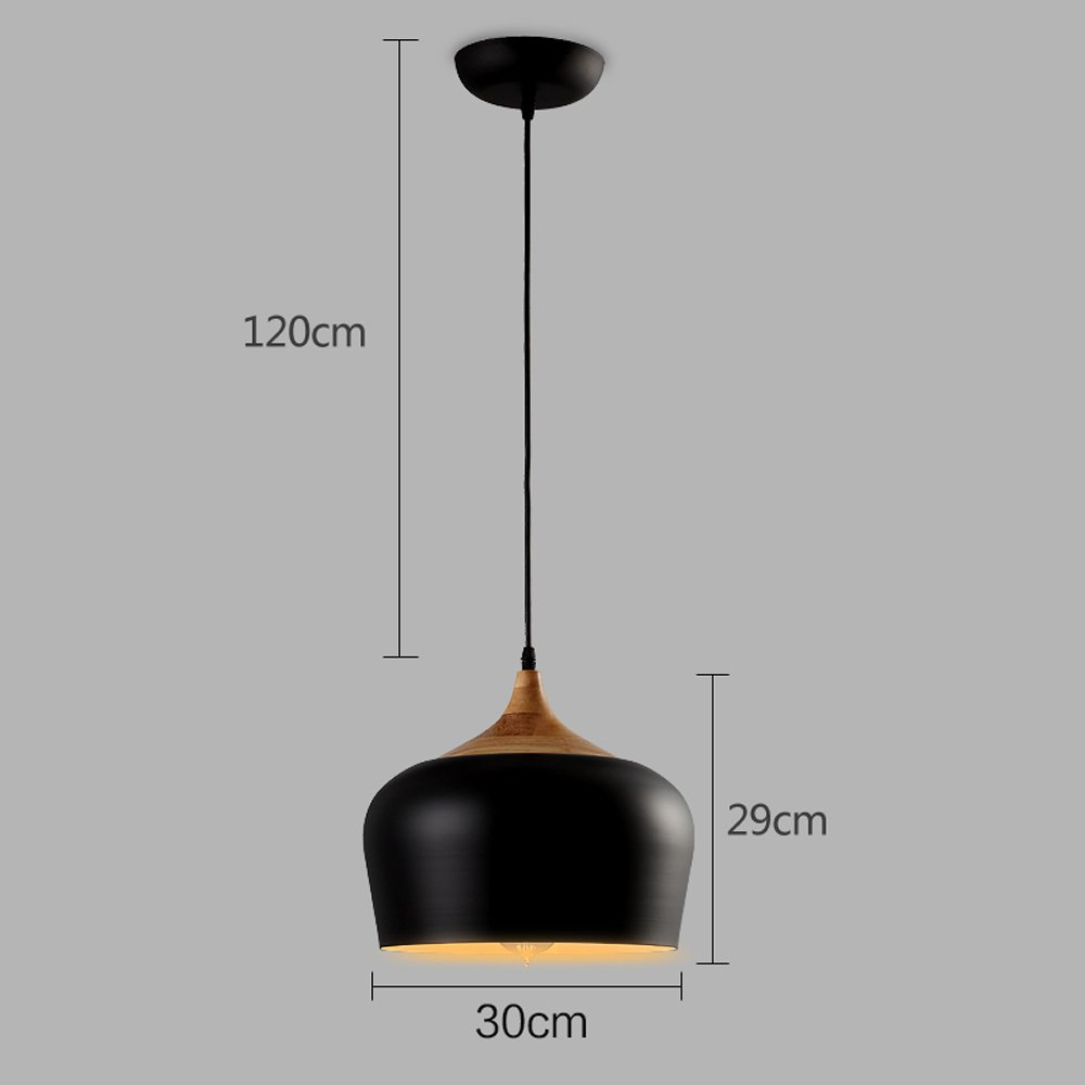 Pumpink Iron Oak Adjustable Pendant Lights Japanese-Style Creative Wood Musical Instrument Shape Ceiling Lamp Hanging Light European Style Edison Bowl Chandelier For Cafe Bar Restaurant ( Color : White-Diameter:40cm )