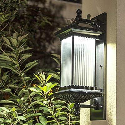 Noble House Luz De La Pared del Jardín De La Lámpara Solar Al Aire Libre Lámparas De Pared Wall Lithts Super Brillante LED 1 5m2-10m2 Villa Iluminación De La Lámpara De Jardín: