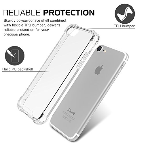 MoKo Funda para iPhone 7 - Avanzado Ultra Delgado TPU de Parachoques Flexible Gel Shock Anti-arañazos Back Cover con Cool Pattern para Apple iPhone 7 4.7 Pulgadas (2016), No Me Toques Crystal CLARO-AA