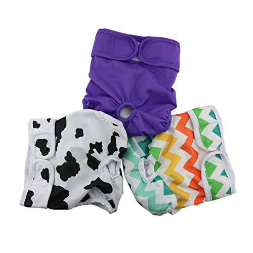 Hi Sprout Female Dog Diaper Reusable Washable Durable Absorbent Cloth Doggie Diapers Pants l2 (Doggy Clothes)