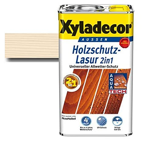 Xyladecor – Barniz para protección de madera 2 in1 Blanco Haya 5 litros – No necesita