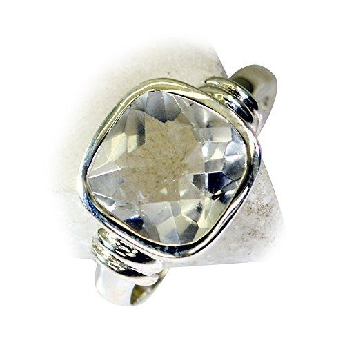 55Carat Sterling Silver Cubic Zircon CZ Ring for Women Cushion Cut Size 5,6,7,8,9,10,11,12