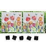20-ct 13x13 Tulip Napkins   Valentine Napkins