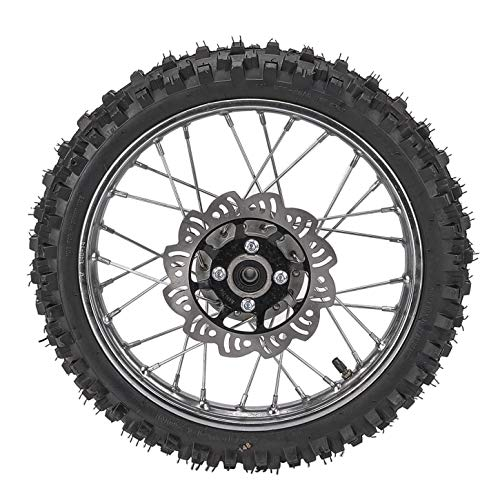 WPHMOTO 2.50-14 1.4x14 inch Wheel With 12mm Bearing Axle 60/100-14 Tire Rim & Disc Roto Assembly For Dirt Pit Bike