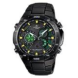Men's Edifice Black Label Solar Multi-Band Atomic Alarm Chronograph Link Bracelet
