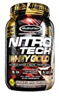 MuscleTech NitroTech Whey Gold, 100% Whey Protein Powder, Whey Isolate and Whey Peptides, Cookies and Cream, 2,2 Pound Review