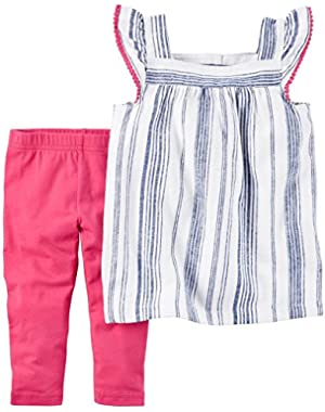 Baby Girls' 2 Piece Striped Set
