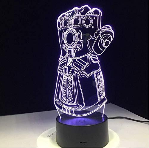 Avengers Infinity War Gloves Luci Notturne 3D Led Cambiando Luce Della Novit/à 3D Lampada Da Scrivania Creativa Drop Ship