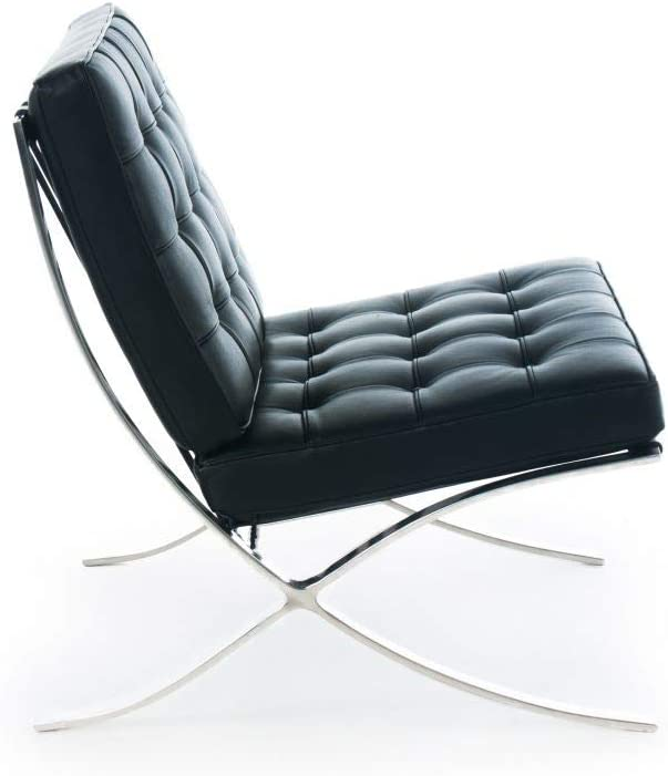 Premium Lounge Chair – Imported Top Grain Italian Leather Chair Black
