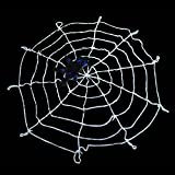 9.85ft hHalloween Spiders Web,Giant Spiders Webs for Outdoor Halloween Decorations( White)