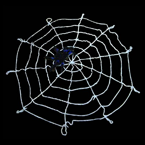 9.85ft hHalloween Spiders Web,Giant Spiders Webs for Outdoor Halloween Decorations( (White Spider Web Halloween Decoration)