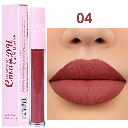 Ourhomer New Long Lasting Lipstick Waterproof Matte Liquid Lip Gloss Lip Liner Cosmetics