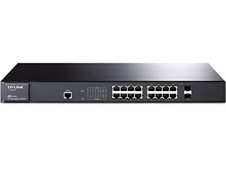 TP-Link JetStream 16-Port Gigabit Ethernet L2 Managed Switch with 2-Combo  SFP Slots (TL-SG3216)