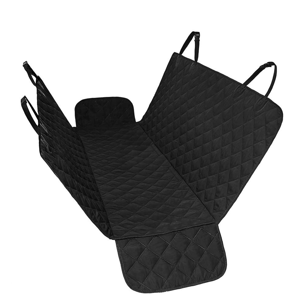 A Dog Seat Cover Car Pet Mat Cat Predector Waterproof Rear Hammock Seat Liner with Side Flaps Door Predector (53.9  W x 57.9  L),A
