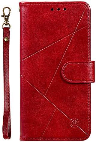 Lomogo iPhone6S / iPhone6 ケース 手帳型 耐衝撃 レザーケース 財布型 カードポケット スタンド機能 マグネット式 アイフォン iPhone 6S / 6 手帳型ケース カバー 人気 - LOHHA150006 赤