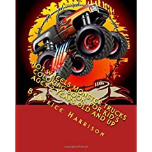 Hot Wheels Monster Trucks Coloring Book: For Kid's Ages 2 Years Old and up
