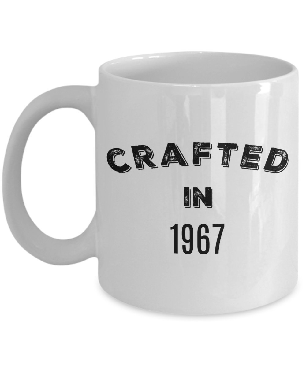 50th Birthday Stuff for Men Women - 1967 Mug - Gag Gifts for 50 Years Old - Crafted in 1967 Novelty Coffee Cup - Vintage Design