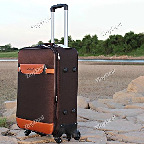 26 Inch Wheeled Trolley Luggage Travel Bag Suitcase Spinner Suiter Expandable HHI 264569