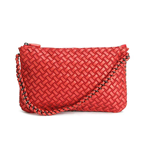 Paquete Cremallera Simple Red Baachang Bolso Red Mujer color Y Sólido Color Diagonal Con Para Versátil BPZRqxH