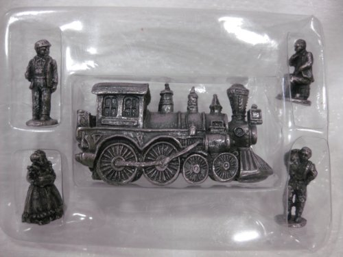 - The Americana Pewter Collection Set Of 5 Including #25 Steam Locomotive & 4 Figurines AH30 From 1993