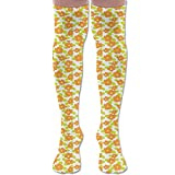 Woman Kids Theme Cute Girlish Pattern With Doodle Flowers And Green Leaves Rich Colors Comfort Knit Crew