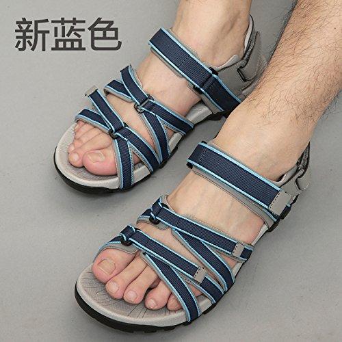 Xing Lin Sandalias De Hombre Los Hombres Sandalias De Cuero Sandalias Verano Deportes Para Hombres Sandalias Zapatos Xxl 2029 new blue