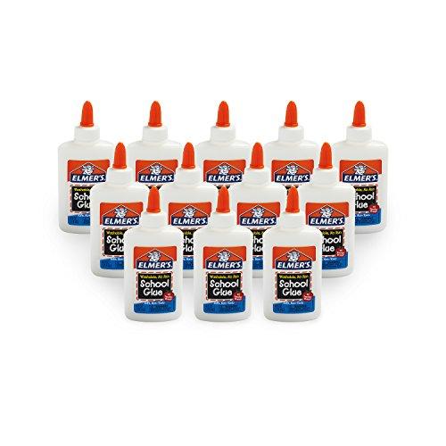 Elmer's Liquid School Glue, Washable, Pack of 12 by Elmer's