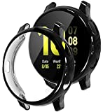 Tensea Compatible with Galaxy Watch Active2 Case, 2 Packs Soft TPU Bumper Full Around Screen Protector Cover for Samsung…