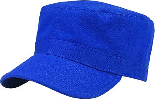 KBK-1464 ROY M Cadet Army Cap Basic Everyday Military Style Hat Royal Blue ()