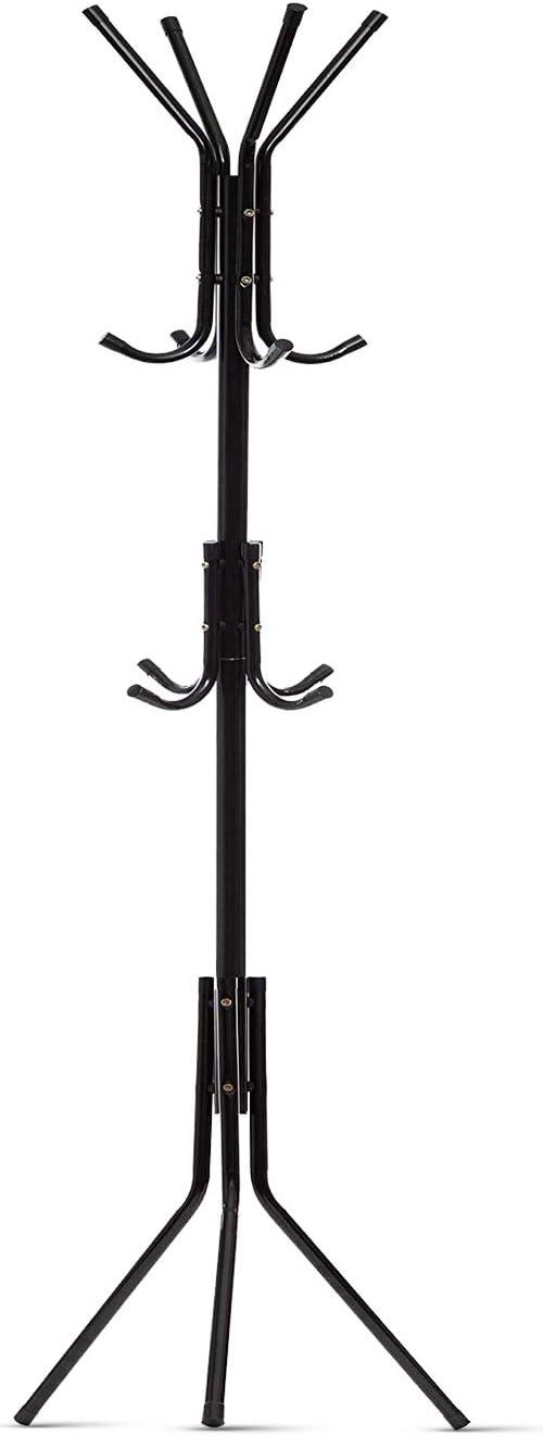 Premium Metal Tree Coat Rack Hanger Free Standing Floor With 12 Hooks 73/'/' H