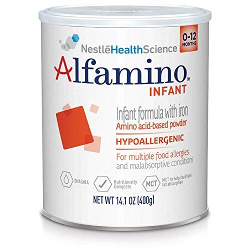 Alfamino Infant Amino Acid Based Infant Formula with Iron, Unflavored, 14.1 oz Canister