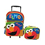 """Sesame Street Elmo Large 16"""" Rolling Roller School Backpack & Lunch Box Set by Phenomenon2020"""