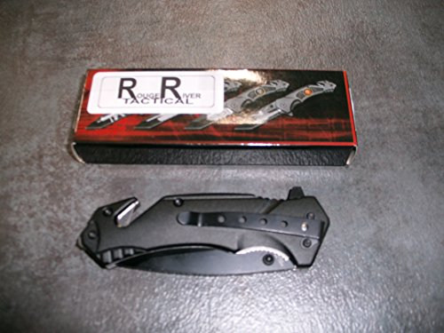 Rogue-River-Tactical-Black-USN-Aircraft-Carrier-Spring-Assist-Rescue-Pocket-Knife-US-Navy-Tanto-Blade-with-Glass-Breaker-Seat-Belt-Cutter-Assisted-Seals-Combat-Knives