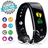 Fitness Tracker, Activity Tracker Fitness Watch with Heart Rate Monitor Color Screen,Waterproof Fitness Tracker Watch with Step Counter,Calorie Counter,Pedometer for Kids Women Men Android iOS