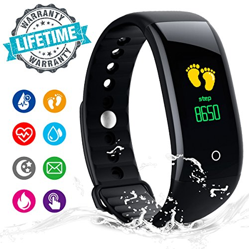 Fitness Tracker,Activity Tracker Fitness Watch with Heart Rate Monitor Color Screen,Waterproof Fitness Tracker Watch with Step Counter,Calorie Counter,Pedometer for Kids Women Men Android iOS (Mirror Watch Phone)