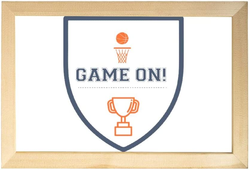nobranded Wooden Sign Game On Basketball Wall Decor Signs with Inspirational Quotes Rustic Wood Framed Modern Farmhouse Wall Hanging Art 8x12 inch