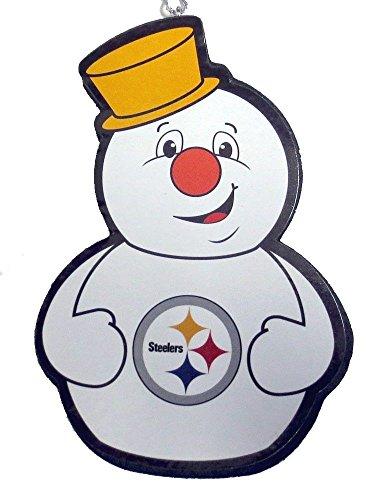 (Pittsburgh Steelers Snowman Team Ornament)